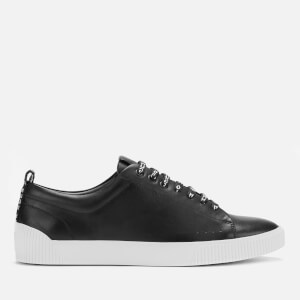 HUGO Men's Zero Leather Tennis Trainers - Black