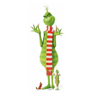 The Grinch Christmas with Table Top Max Cardboard Cut Out