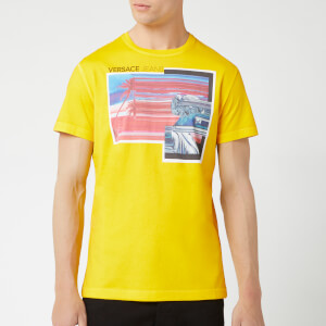 Versace Jeans Men's Printed T-Shirt - Yellow