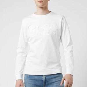 BOSS Hugo Boss Men's Embossed Logo Sweatshirt - White