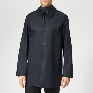 Herno Men's Reversible Car Coat - Navy/Taupe