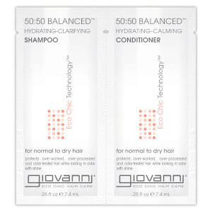 Giovanni 50/50 Balanced Shampoo and Conditioner Sachet 7.4ml (Free Gift)