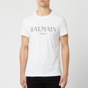 Balmain Men's Paris T-Shirt - Blanc/Noir