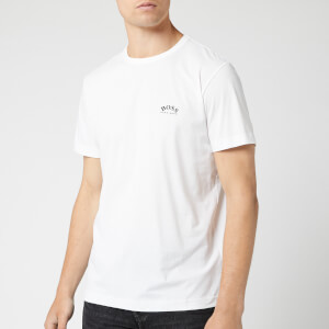 BOSS Men's Curved T-Shirt - White