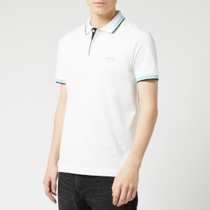 BOSS Men's Paul Curved Polo Shirt - Open White