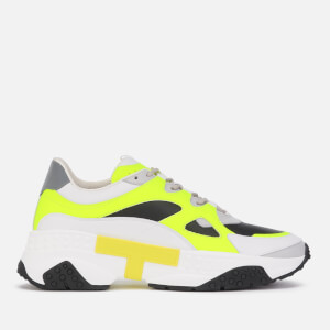 Tod's Men's Runner Style Trainers - White/Neon