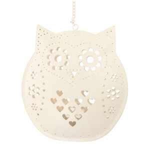 Sass & Belle Hanging Owl Tealight Holder - Cream
