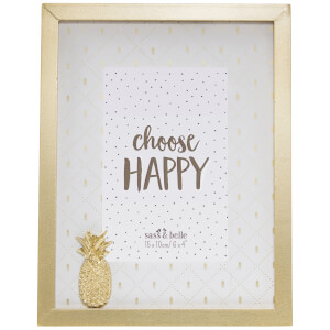 Sass & Belle Touch of Gold Pineapple Photo Frame