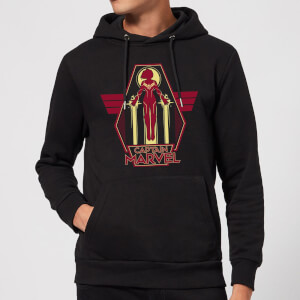 Captain Marvel Flying Warrior Hoodie - Black