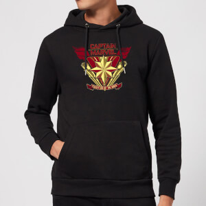 Captain Marvel Protector Of The Skies Hoodie - Black