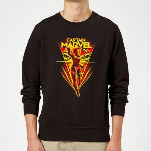 Captain Marvel Freefall Sweatshirt - Black
