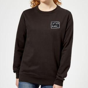 Captain Marvel Name Badge Women's Sweatshirt - Black