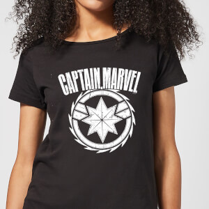 Captain Marvel Logo Women's T-Shirt - Black