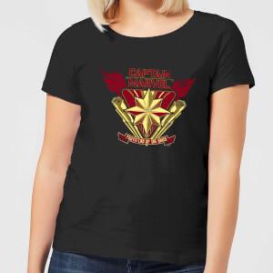 Captain Marvel Protector Of The Skies dames t-shirt - Zwart