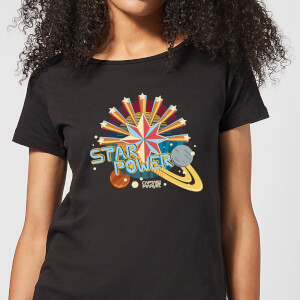 Captain Marvel Star Power Women's T-Shirt - Black