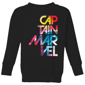 Felpa Captain Marvel Galactic Text - Nero - Bambini