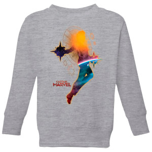 Captain Marvel Nebula Flight Kids' Sweatshirt - Grey