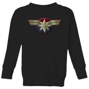 Captain Marvel Chest Emblem Kids' Sweatshirt - Black