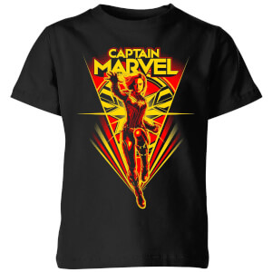 Captain Marvel Freefall Kids' T-Shirt - Black