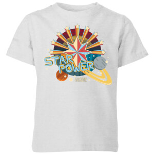 Captain Marvel Star Power Kids' T-Shirt - Grey