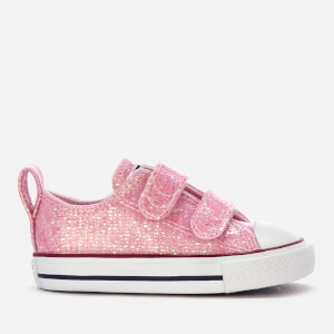3ed1953c3 Converse Toddlers  Chuck Taylor All Star 2 Velcro Ox Trainers - Pink  Foam Enamel