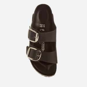 Birkenstock Women's Arizona Big Buckle Leather Slim Fit Double Strap Sandals - Black: Image 3