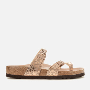 Birkenstock Women's Mayari Slim Fit Double Strap Sandals - Metallic Stones Copper