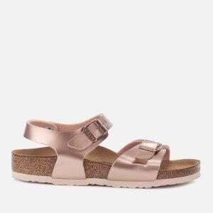 Birkenstock Kids' Rio Slim Fit Double Strap Sandals - Electric Metallic Copper