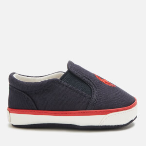 Polo Ralph Lauren Babies' Bal Harbour II Canvas Slip-On Pumps - Navy/Red PP