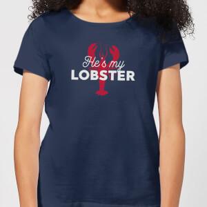 He's My Lobster Women's T-Shirt - Navy
