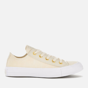 Converse Women's Chuck Taylor All Star Ox Trainers - Natural Ivory/Antique Brass