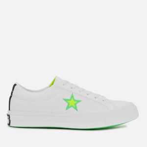 Converse Women's One Star Ox Trainers - White/Black/Acid Green