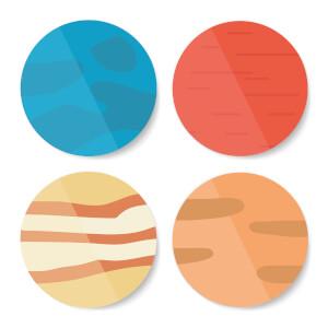 Planets Coaster Set