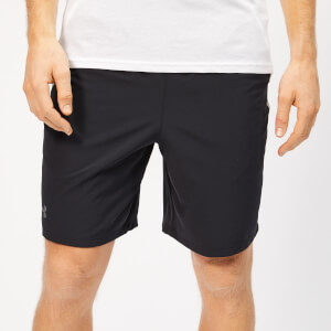 Under Armour Men's Qualifier WG Perf Shorts - Black/White/Pitch Grey