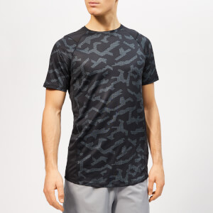 Under Armour Men's Mk1 Shorts Sleeve Printed T-Shirt - Black