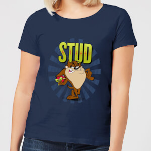 Looney Tunes Stud Taz Women's T-Shirt - Navy