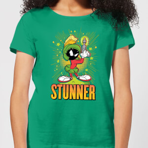 Looney Tunes Stunner Marvin The Martian Women's T-Shirt - Kelly Green
