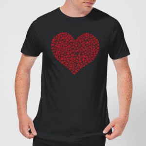 Super Mario Items Heart Men's T-Shirt - Black