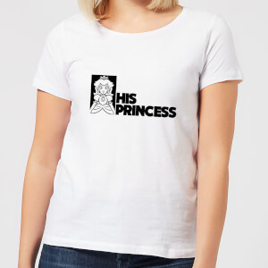 Super Mario His Princess Women's T-Shirt - White