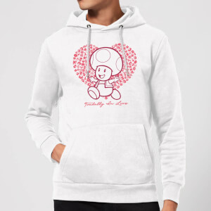 Super Mario Toadally In Love Hoodie - White