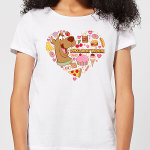Scooby Doo Snacks Are My Valentine Women's T-Shirt - White
