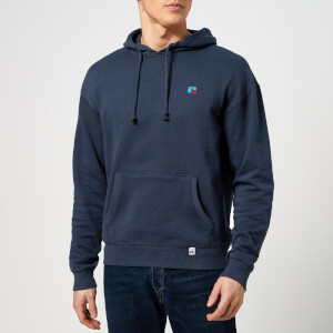 Russell Athletic Men's R Embroidered Hoody - Blue