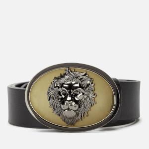 Versus Versace Men's Leather Belt - Gold Black