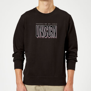 Channeling My Inner Unicorn Sweatshirt - Black