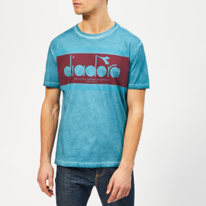 Diadora Men's Spectra Used Short Sleeve T-Shirt - Blue Pearl Arbor