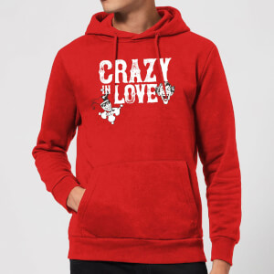 Batman Crazy In Love Hoodie - Red