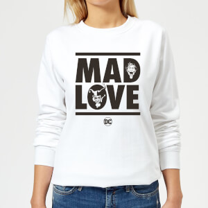 Batman Mad Love Women's Sweatshirt - White