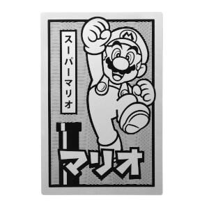 Póster metálico Nintendo Original Hero Super Mario