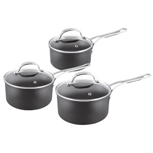 Jamie Oliver by Tefal 3 Piece Premium Saucepan Set with Lids