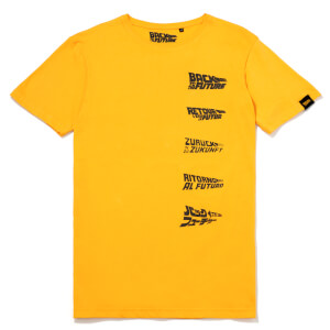Global Legacy Back To The Future DeLorean T-Shirt - Yellow
